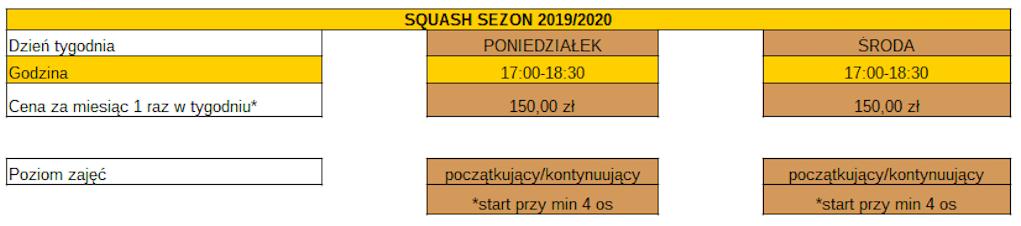 Grfika zajęć qusah 2019 : 2020